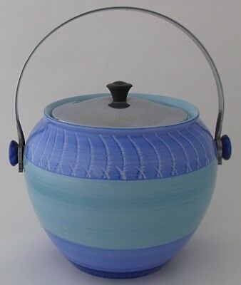 Stylish Shelley Harmony Biscuit Barrel - Art Deco Pottery • 79£