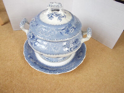 Copeland Spode's Camilla Large Lidded Tureen And Plate/tray  C.1909 • 109.99£