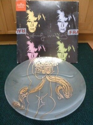 Rosenthal Studio Line 53cm Glass Charger Plate By Andy Warhol • 125£