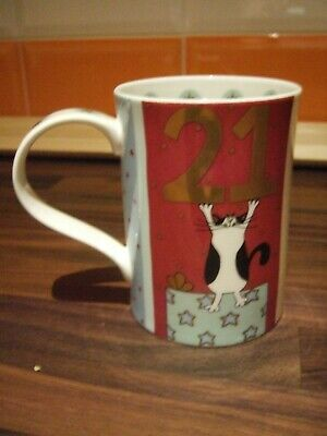 Rare New Labelled Dunoon Mug - 21 By Helen Rhodes • 10£