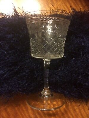 Vintage Collectible 1930's Set Of Four Edwardian Acid Etched Port Sherry Glasses • 60£