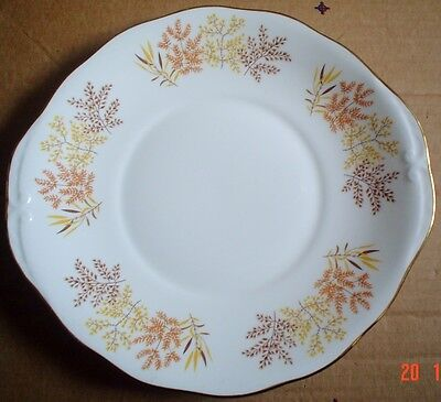Pretty Royal Vale AUTUMN LEAVES Cake Or Biscuit Plate • 10.99£
