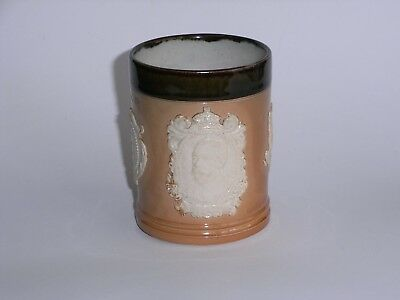 Royal Doulton Stoneware Spill Vase Commemorating Coronation Of Geo V & Mary 1911 • 47.50£