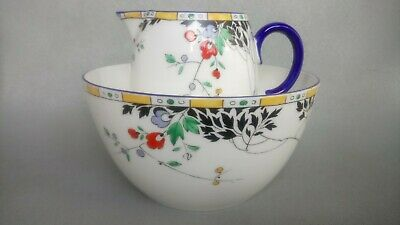 Shelley China 11602 Leafy Branches ~ Milk & Sugar Bowl • 44.95£