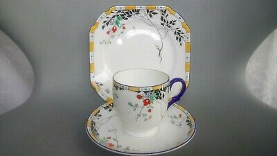 Shelley China 11602 Leafy Branches (lomond Shape) Trio (cup / Saucer / Plate)  • 49.95£