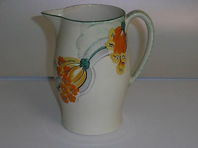 Grays Pottery Art Deco Lemonade Jug - Hand Painted With Unusual Flowers. • 65£