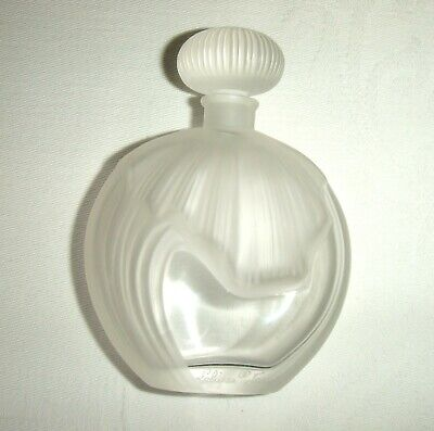 Quality Vintage Signed Lalique Glass Scent/Perfume Bottle ~ With Glass Stopper • 215£