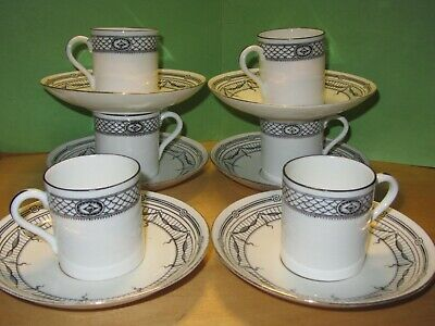 Vintage Set 5 MCC Sutherland China Espresso Cups & Paragon Star Saucers Cricket • 19.99£