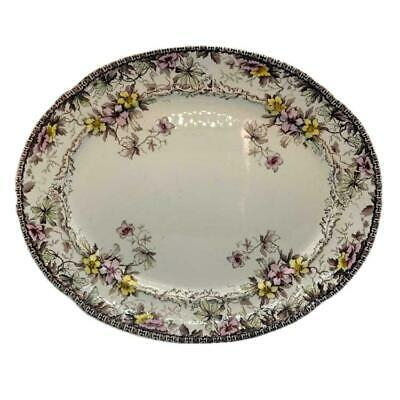 F Winkle & Co Conway Pattern Floral China 15 Inch Platter C1894 • 39.99£