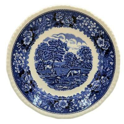Adams English Scenic Blue And White China 9 Inch Plates • 12.99£