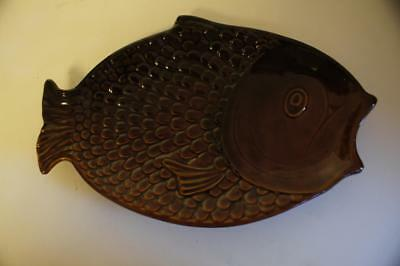 A LOVELY VINTAGE BROWN POTTERY SYLVAC SERVING DISH No 4685. • 19.99£