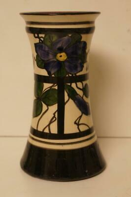 A Lovely Pottery Vase With Flower Design. • 12.99£