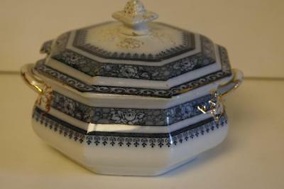 Losol Ormonde Blue & White Small Lidded Tureen Or Sauce Bowl. • 24.99£