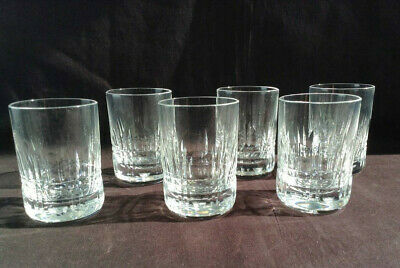 Vintage WEDGWOOD Whiskey Glasses Crystal Glasses WWC3 Cut Set Of 6, • 71.99£