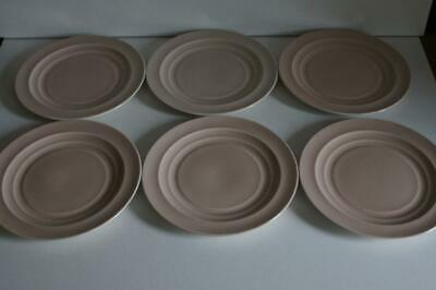 6 X Vintage Branksome China 16.5cm Side/tea Plates In Creamy/pink. • 17.99£