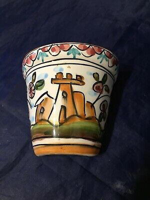 Vintage Wall Pocket Decorative Painted Portugal  • 2.99£