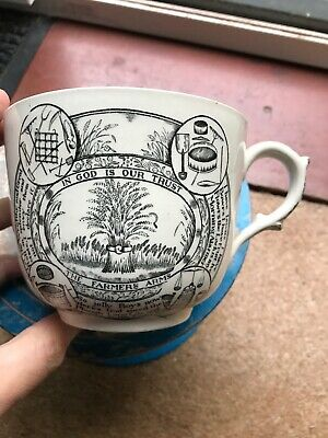 Vintage Adams The Farmers Arms Jumbo Breakfast Cup  Farming Country • 8.99£