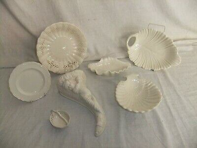 C4 Pottery Leedsware Classical Creamware Embossed Decorative Vintage Pieces 4E5A • 15£