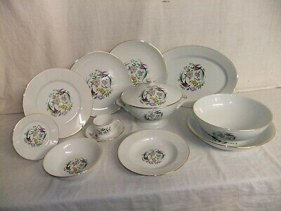 C4 Porcelaines De Limoges France NEW Birds Of Paradise & Oriental Flowers 1C5G • 25£