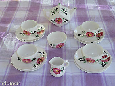 Hancock's Ivory Ware Child's 'art Deco' 15 Piece  Tea Service  • 120£