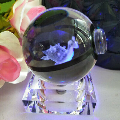 Lapras Crystal Ball 3D Crystal Night Light Table Lamp Birthday Crafts Xmas Gift • 16.98£