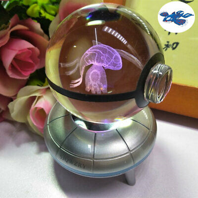Kyogre Crystal Ball 3D LED Crystal Decor Night Light Table Lamp Xmas Gift 7color • 17.68£