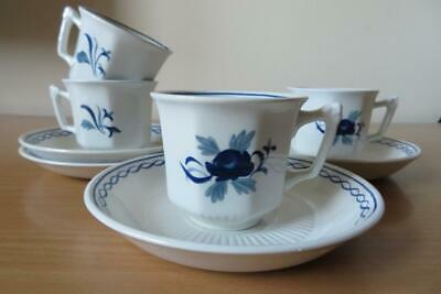 4 X ADAMS (WEDGWOOD) BALTIC SMALL COFFEE CUPS & SAUCERS • 11.50£