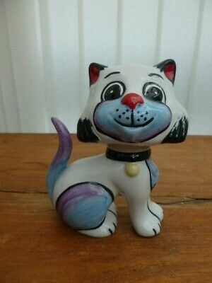 Lorna Bailey Collectors Hand Painted Signed Cat  Lucky  • 26.99£