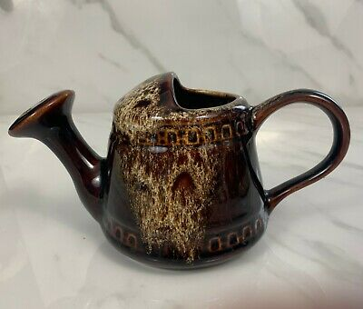 Vintage 'Fosters' Cornwall Brown Pottery Watering Can • 11.50£