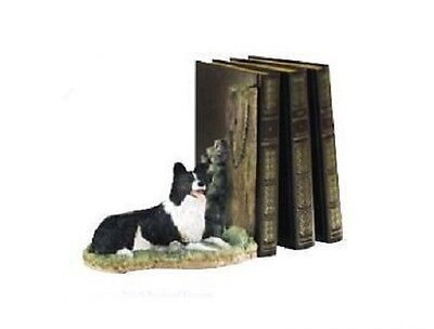 Border Fine Arts Collie Keeping Watch Bookend A8900 Mib • 29.99£
