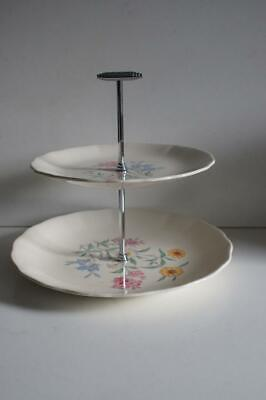 A Lovely Vintage Royal Staffordshire Pink Susan By Clarice Cliff 2 Tier Cake S • 39.99£