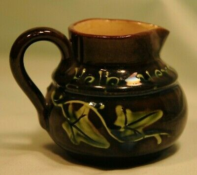 Longpark Pottery Help Yersel Tae Cream, Jug With Ivy Decoration. Good Condition • 6£