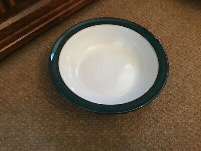 Denby Greenwich Rimmed Soup Cereal Bowl Diameter 18cm • 10.50£