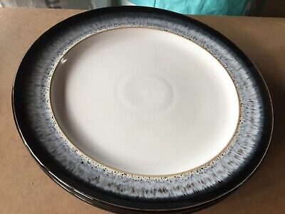Denby Halo Dinner Plates X 2 Diameter 27.5 Inches • 21.99£