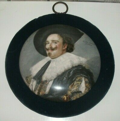 Laughing Cavalier Hanging Ceramic Pot Lid Frans Hals Staffordshire • 7.99£