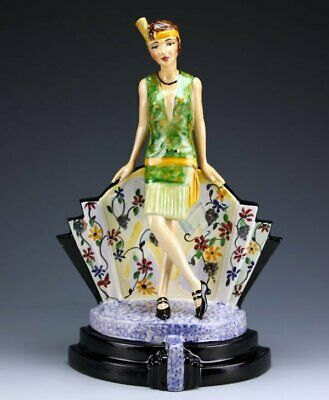 Peggy Davies / Kevin Francis Hullaballo Deco Lady Figurine, Artists Original C/w • 145£