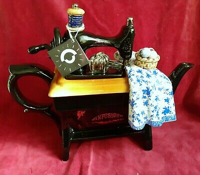 Paul Cardew  Large Teapot   Sewing Machine  New • 70£