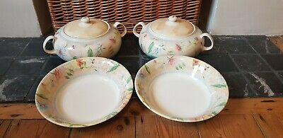 Boots Country Cottage - 2 Tureens & 2 Open Serving Bowls ( Royal Stafford ) • 39.99£