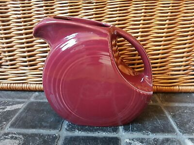 Fiesta Usa Deco Style Homer Laughlin Claret Burgundy Wine Jug • 14.99£