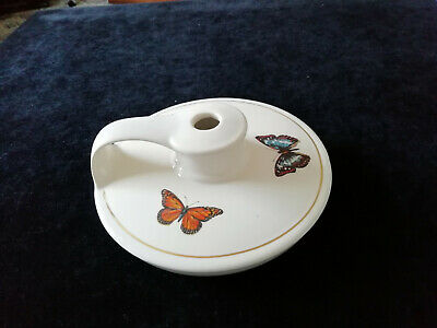 Vintage Holkham Pottery Wee Willie Winkie Lamp Base Butterflies • 7.95£
