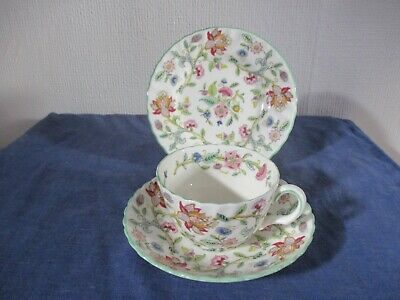 Minton  Haddon Hall  Trio - Cup Saucer Plate Signed Excellent • 7.99£