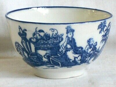 C18th Worcester Tea Bowl In The Mother And Child Pattern • 20£