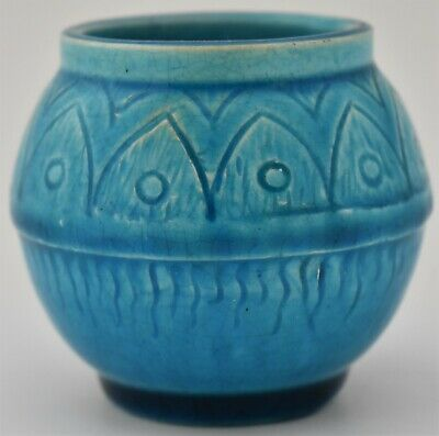 Lovely Small Burmantofts Vase - British Art Pottery (Leeds Yorkshire) Circa 1900 • 69£