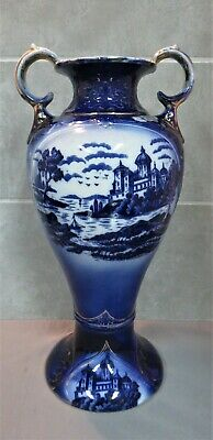 Large Victorian Flo Blue Vase. 16  High.    Refxaod • 9.99£