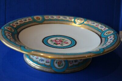 Antique MINTON Floral Gilt Cake Plate With Stand A3406  • 51£