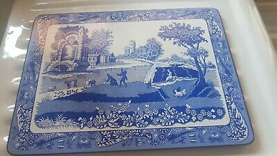 Spode Blue  Italian Placemats X 6 Excellent Condition • 8£