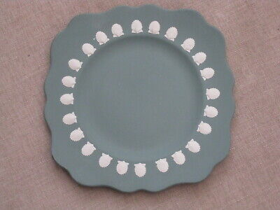 Rare Vintage Wedgwood Jasperware Teal Green Plate With Shell Relief • 19.99£