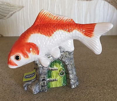 JOHN BESWICK FISH GOLDFISH MODEL No JBDP3 ORANGE & WHITE GLOSS NEW & BOXED  • 14.99£