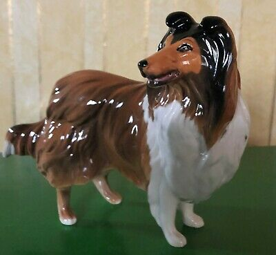 BESWICK DOG ROUGH COLLIE MODEL No 3129 BROWN & WHITE GLOSS PERFECT  • 59.99£