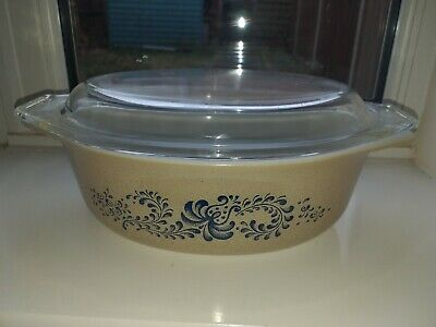 Lovely Vintage Pyrex Corning Homestead Oval Casserole Dish (Charity) • 2.99£